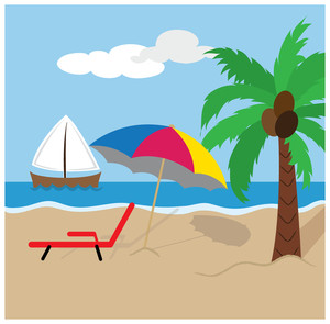 Free clip art image. Boating clipart beach