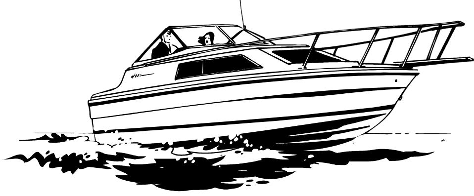 Boating clipart black and white. Speed boat