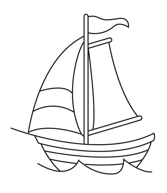 Boats clipart line art. Boat black and white