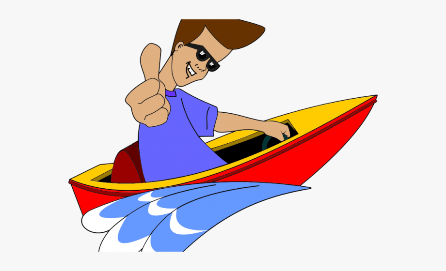 Speed in png transparent. Boating clipart boat man