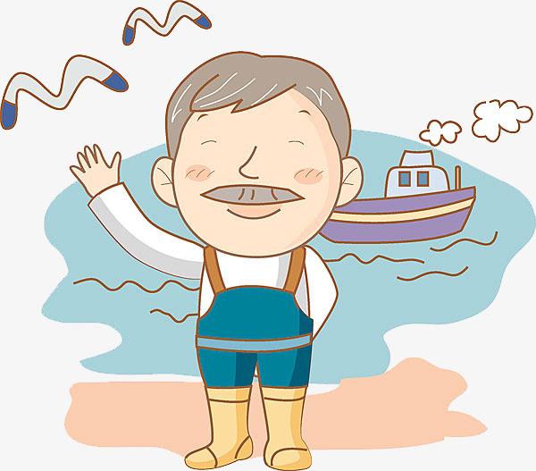 Men and boats cartoon. Boating clipart boat man