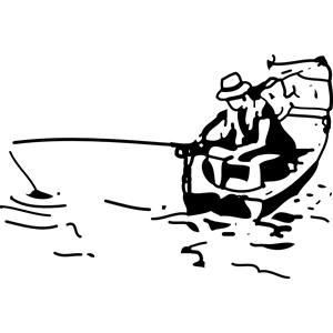 Boating clipart boat man. Fishing panda free images