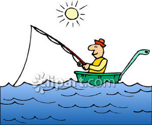 Boating clipart boat man. A fishing in on