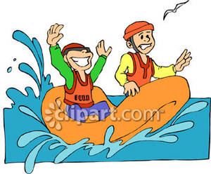 Boys riding in a. Boating clipart boat ride