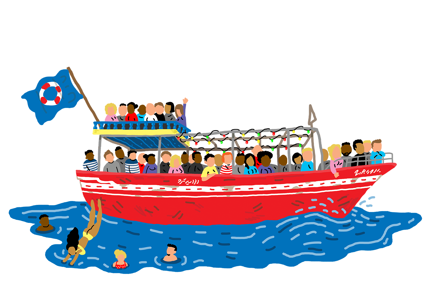 Boating clipart boat ride. Rederij lampedusa friday afternoons