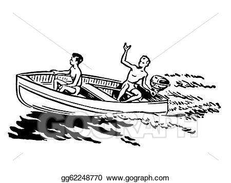 Boating clipart boat ride. Stock illustrations a black