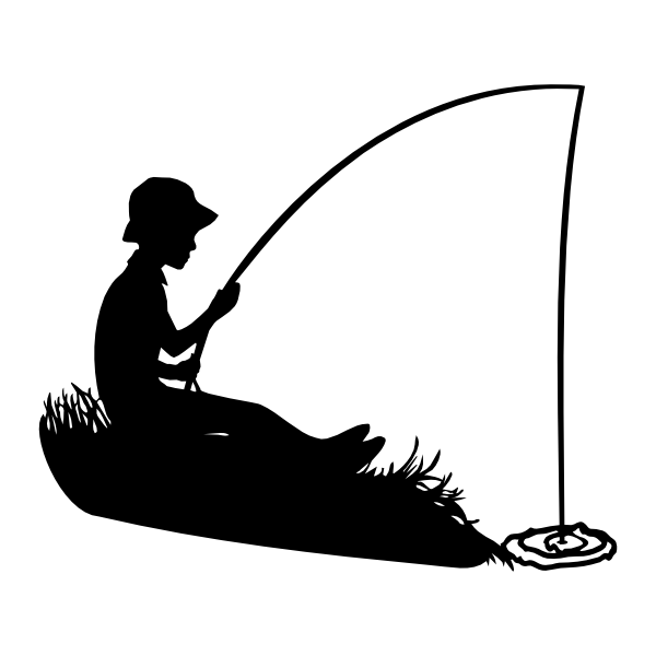 Boating clipart boy in boat. Fishing silhouette svg file
