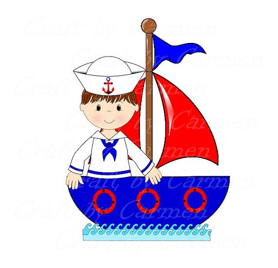 Sailor clip art baby. Boating clipart boy in boat