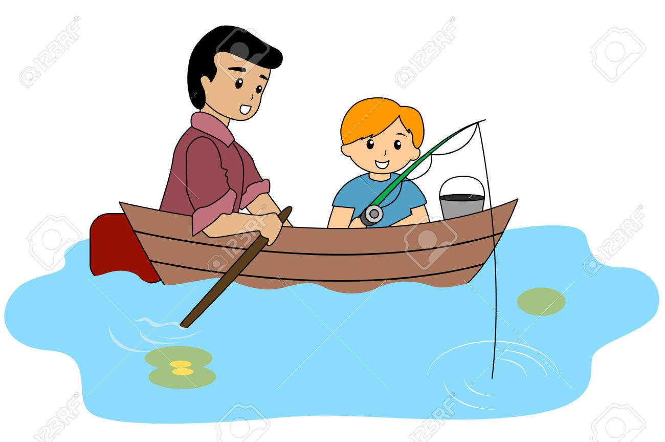 Boating clipart boy in boat. Fishing cartoons cartoon clip