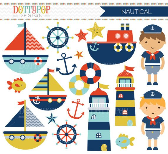 Nautical sailing boats sailor. Boating clipart boy in boat