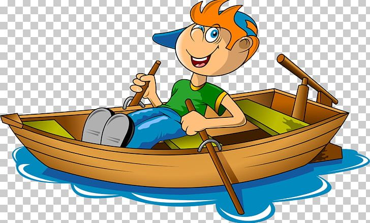 Rowing canoe png art. Boating clipart boy in boat