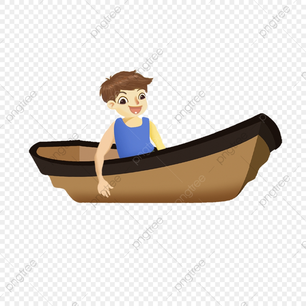Boating clipart boy in boat. Little rowing a free