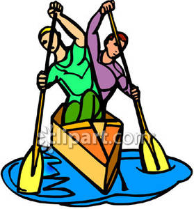 Boating clipart cabin cruiser. Men rowing a boat