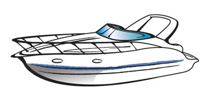 Boating cabin cruiser