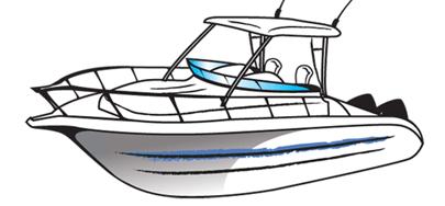 Boating clipart cabin cruiser. Walkaround boats for sale