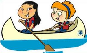 Jpg two girls in. Boating clipart canoe