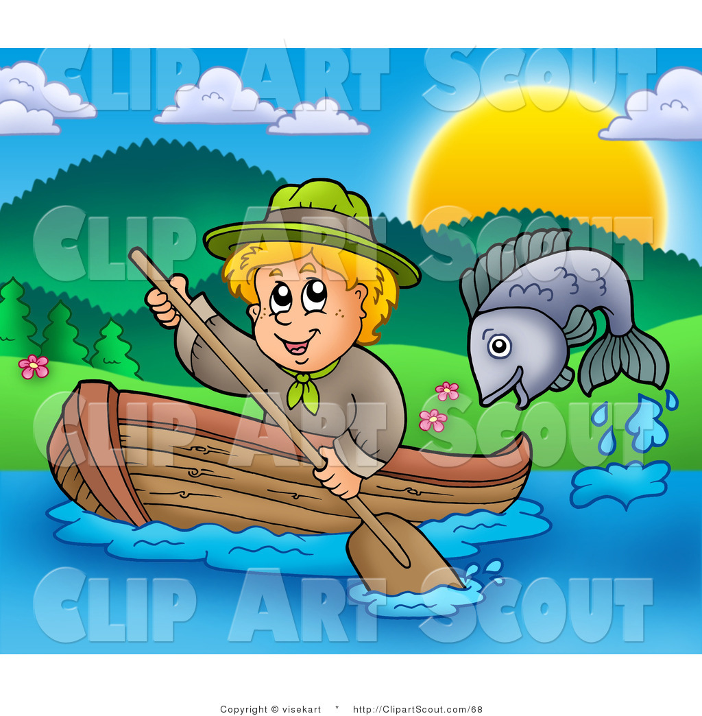 Royalty free kid stock. Boating clipart child