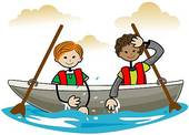 Boating clipart child. Boat kids stock illustrations