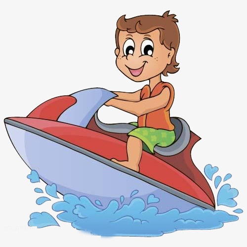 Boating clipart child. Boat on the kids
