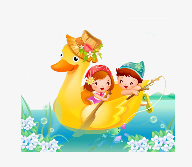 Children duck boy png. Boating clipart child
