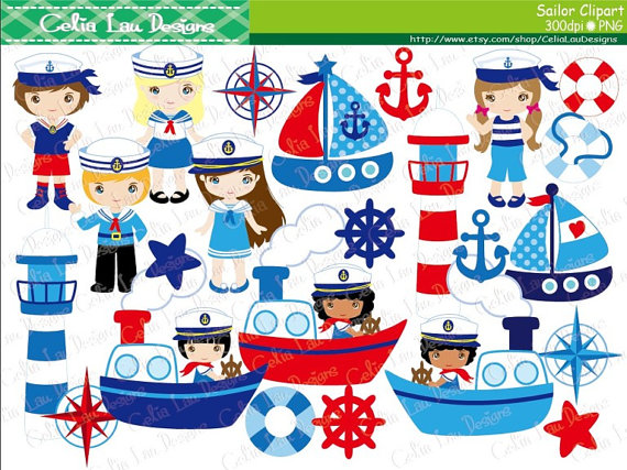 Boating clipart clip art. Sailor sailing boat nautical