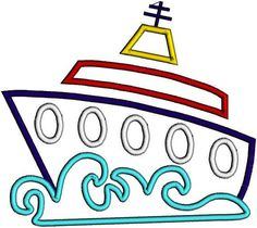 Free ship clip art. Boating clipart cruise