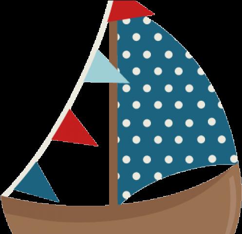 Sailing boat sea sail. Boating clipart cute