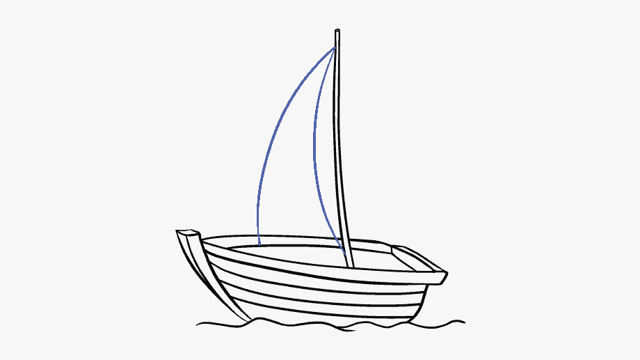 How to draw boat. Boating clipart easy