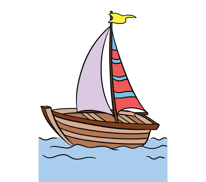 Sailboat drawing free download. Boats clipart easy