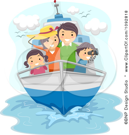 Traveling by . Boating clipart family boat