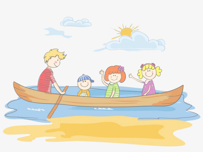 Boating clipart family boat. Summer is a play