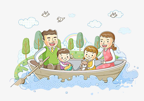 Boating clipart family boat. The whole to row