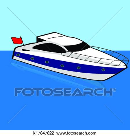 Speed boats station . Boating clipart fast boat