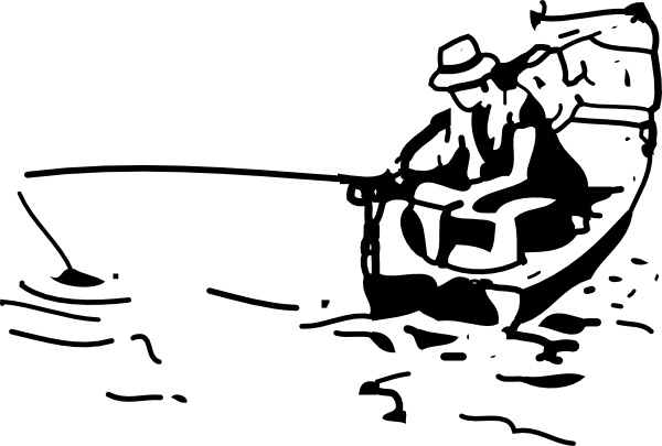 Fishing boat clip free. Boats clipart line art