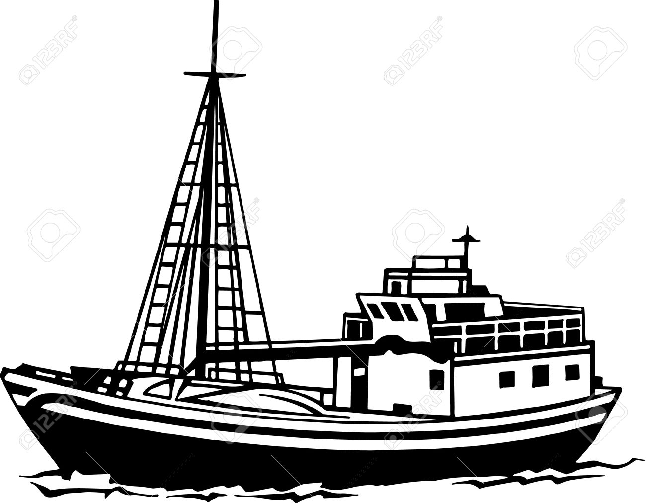 Free images. Boating clipart fishing boat
