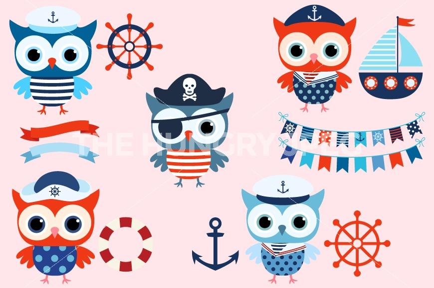 Boating clipart group sailor. Boy nautical owl cute