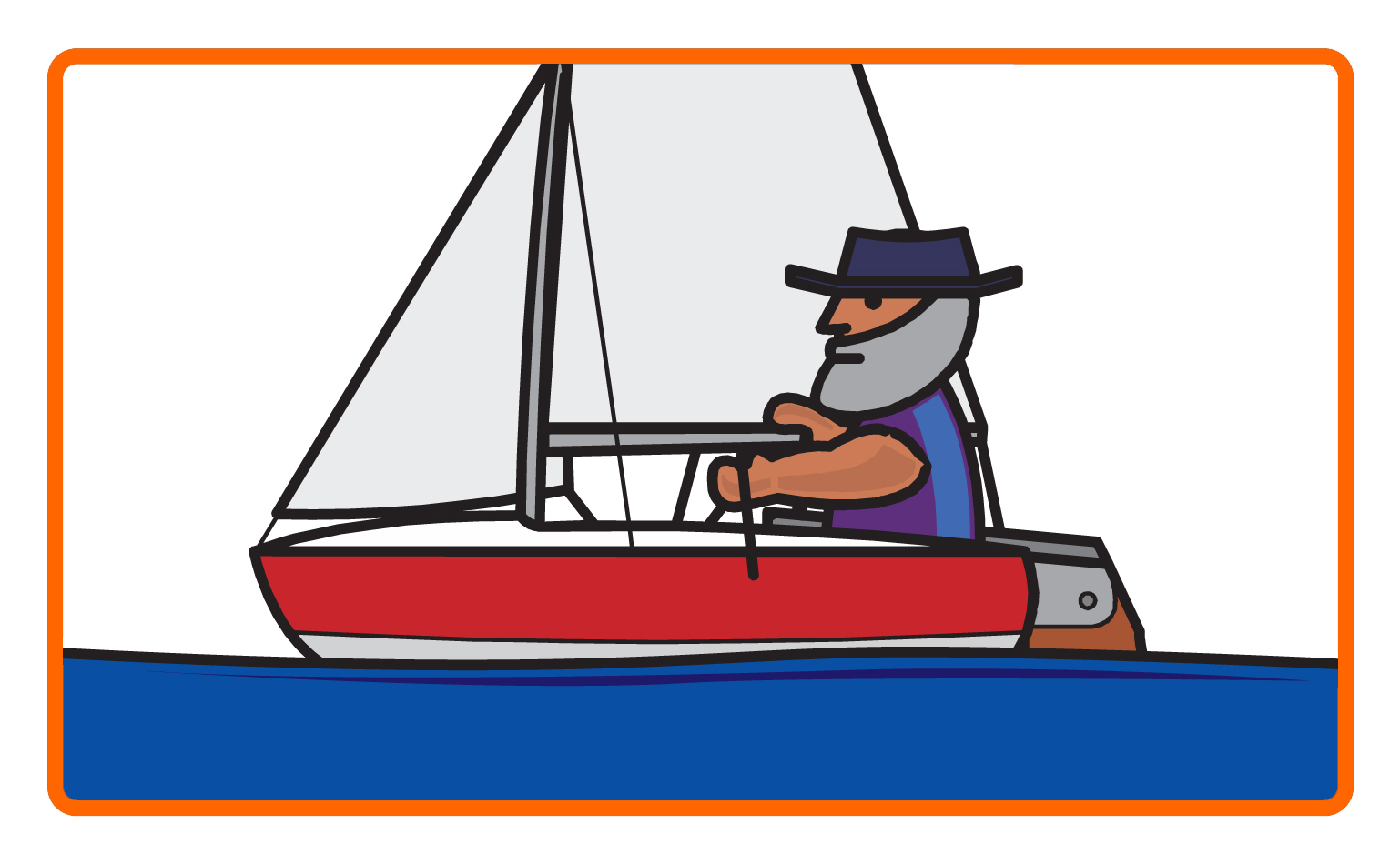 Platty watersports in the. Boating clipart group sailor