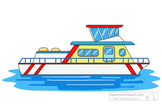 Boating clipart house. Fishing boat houseboat pencil