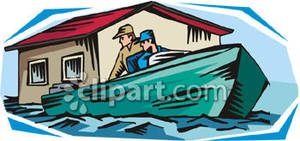 Boating clipart house. Two men in a