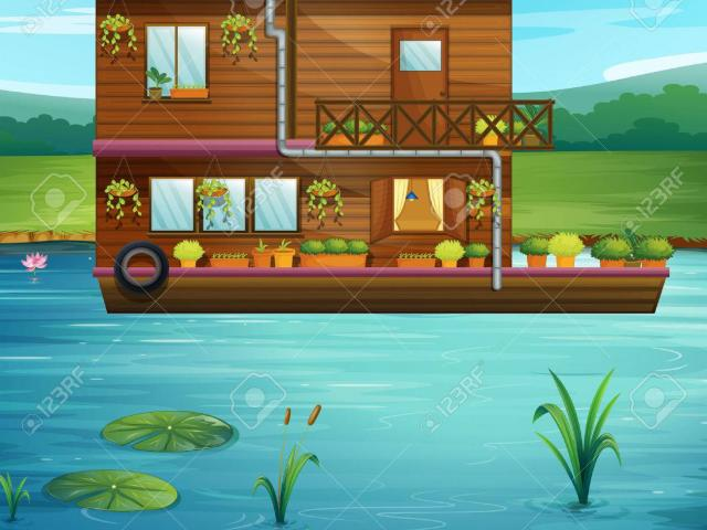 Boat parade free on. Boating clipart house