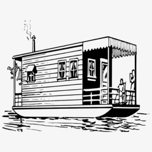 Boating clipart house. Boat black and white