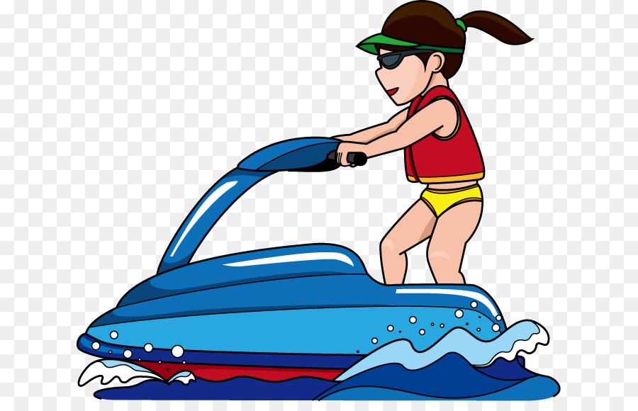 Jet ski personal water. Boat clipart watercraft