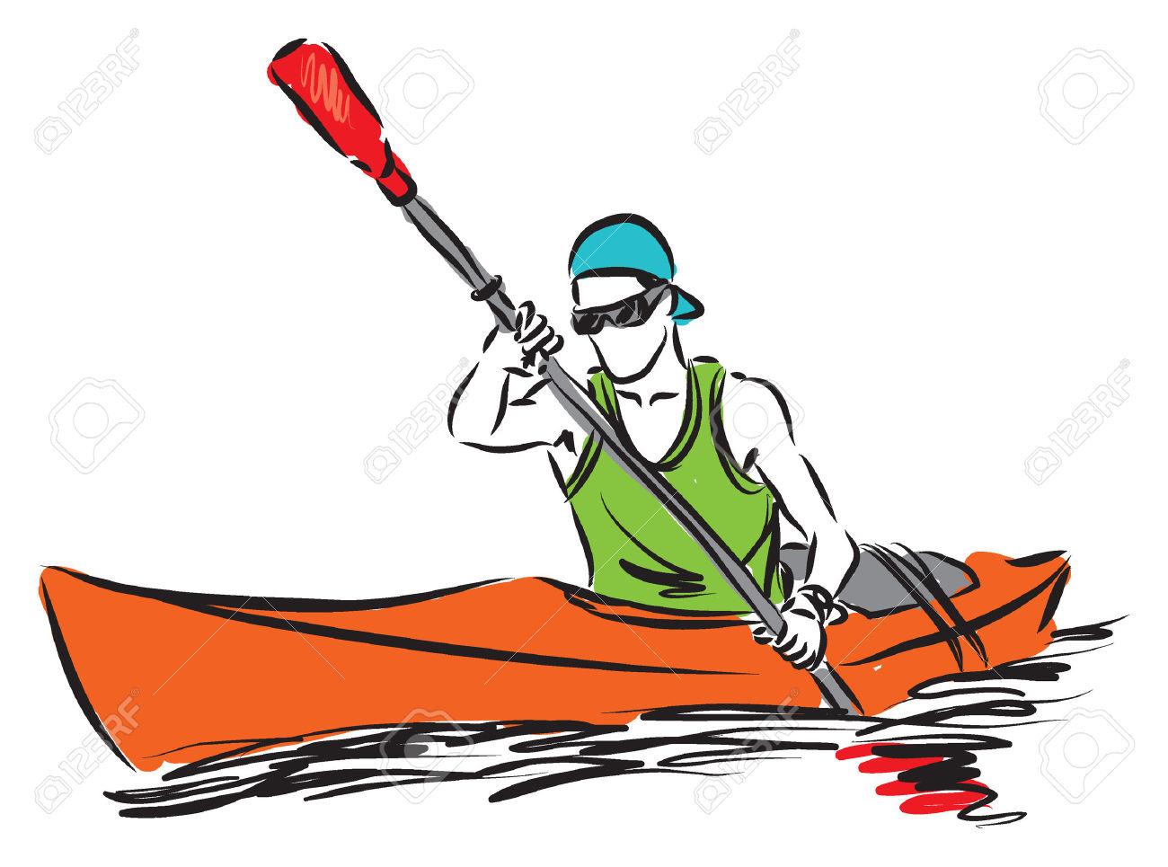 Kayaking cliparts free download. Boating clipart kayak