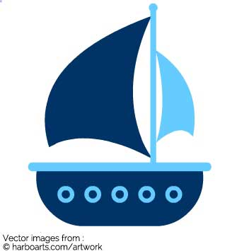 Boating clipart kid design. Sailing boat silhouette at