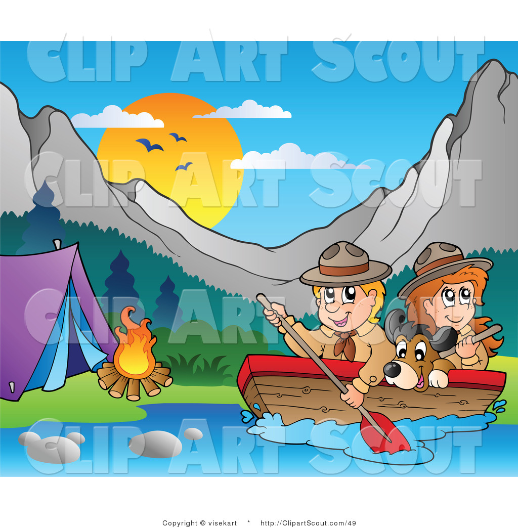 Royalty free stock scout. Boating clipart kid design