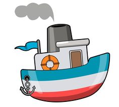 Train clip art images. Boating clipart kid design