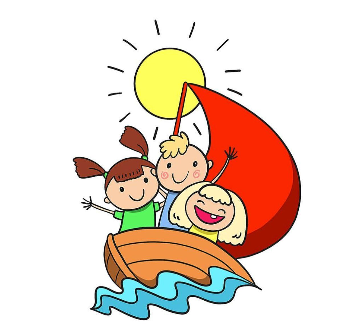 Homey idea little kids. Boating clipart kid design