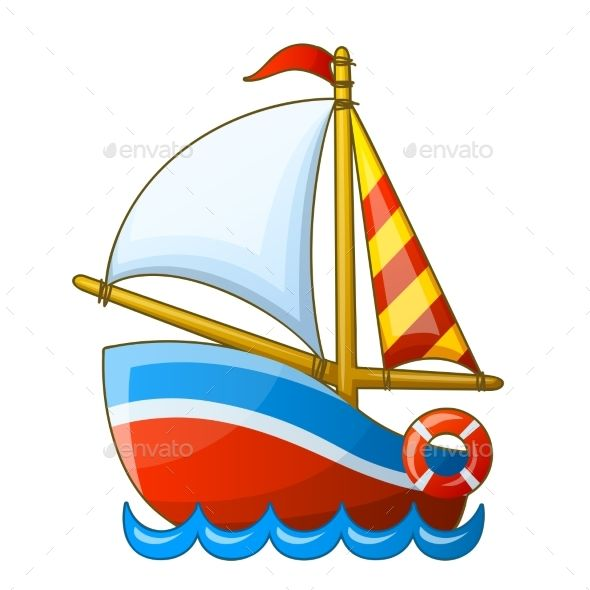 Boating clipart kid design. Sailing vessel isolated on
