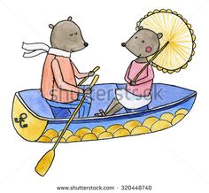 Boating clipart love boat. Steiff teddy bears in