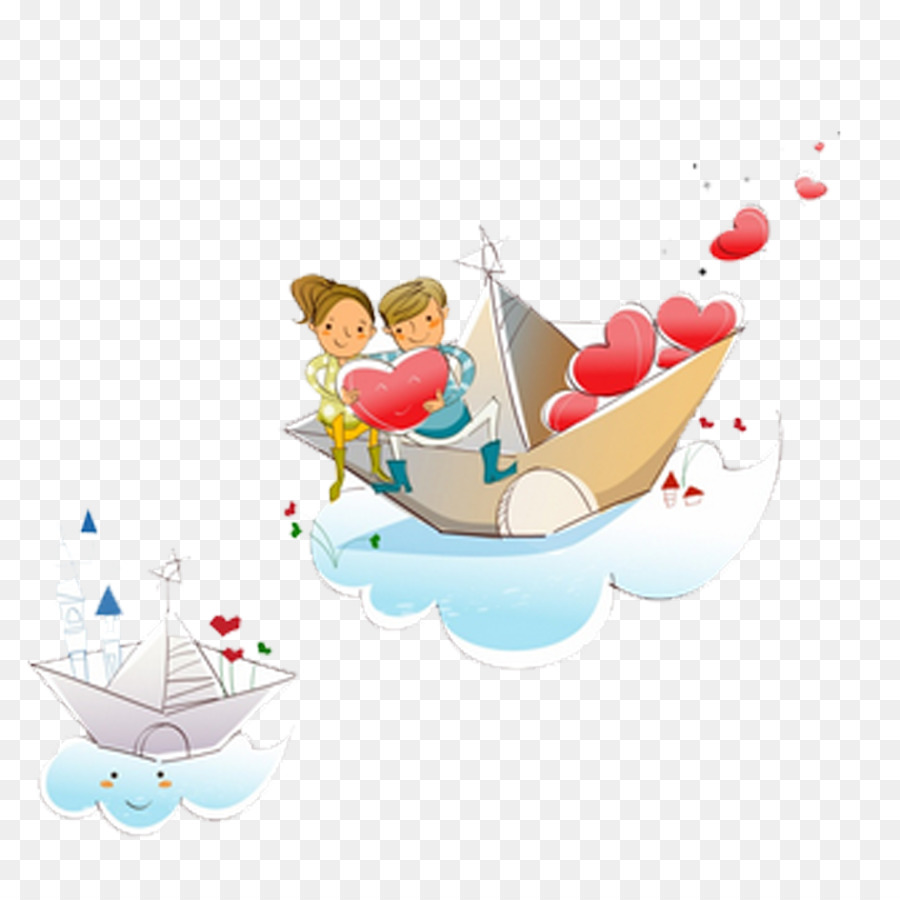 Boating clipart love boat. Cartoon illustration png download